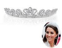 New 2013 Luxury Princess Bridal Rhinestone Tiara Crown Quinceanera Pageant Tiaras Crowns Wedding Hair Chain Accessories WIGO0124
