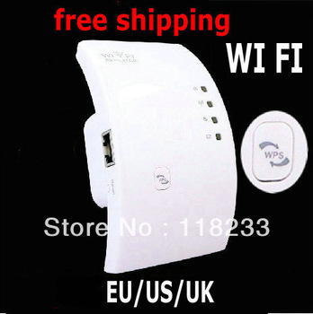 In stock Wireless-N Networking Device Wifi Wi-Fi Repeater Booster Router Range Expander 300Mbps 2dBi Antennas  EU/AU/UK Plug