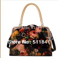 Crazy promotionsNew fashion butterfly shaped canvas handbag shoulder bag banquet bag bag temperament handbags grade PU