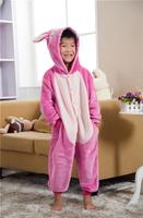 Kigurumi Cosplay Costume Animal Pajamas Christmas Gift For Kids,Children Cartoon Stitch Pajamas Sleepwear Coral Fleece by0030