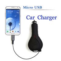 TIROL T20726b  Black  Micro USB Car Charger for Samsung Galaxy S i9000 S2 i9100 i9300 Blackberry HTC Car Accessories