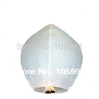 Pure WHITE Wishing Lanterns KongMing Lantern Flying Light Chinese Wish Light Flame Sky  10pcs/lot
