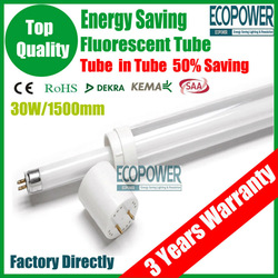 New Energy Saving Lamps T5/T8 Fluorescent Lamp 30W 1500mm Light Bulb Luminaire G13 Fixtures Ballast Tube CE/ROHS/LVD Certificate(China (Mainland))