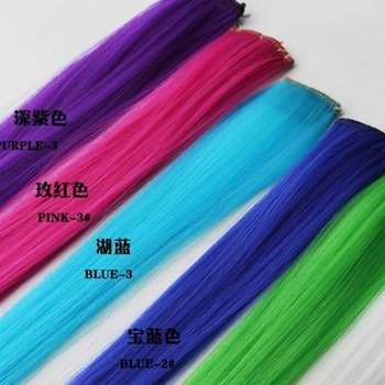 Ocean store fashion punk neon color multicolour hair color wig clip ( min order $10)f91