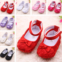 Free shipping 2014 fashion flowers girls bow Baby toddler shoes 11cm 12cm 13cm spring and autumn children's footwear shoes