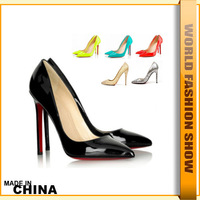 High Quality Brand Stiletto Sexy Ultra High Heels Pumps for Women Dress OL  Bottoms Shoes Patent Leather Party Pumps JHH387
