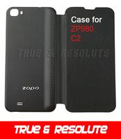 New arrival Original ZOPO ZP980 Leather Case Flip Cover for ZOPO C2 Zopo ZP980+ Smart Phone