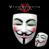 High Quality Resin V for Vendetta Team Guy Fawkes Men Masquerade Party Carnival Mask for Collection Gift Exquisite Packing