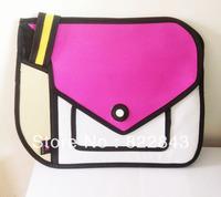 Hot sale Red Canvas Handbags Free Shipping cartoon 3d bags/3d cartoon comic laptop bags,drop shipping