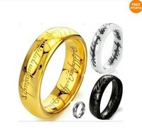 The Lord of the Rings Classic Vintage  different color different materil  Men Tungsten Gold friendship  rings  Wholesale Price