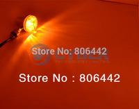 2Pcs Universal Motorcycle Turn Signals Indicators Turning Lights Lamp Chrome DC12V TK0202