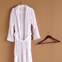 Kimono Bathrobe/ Ladies bathrobe,100% Coral Fleece/ White color,Unisex, Natural & Super soft,Plus size kimono robe-Free shipping