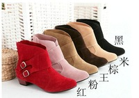 free shipping The new winter 2013 han edition of belt buckle with female boots in the Martin boots