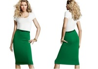 2013 Autumn new arrval slim fashion womens' business suit stretch Pencil skirt elegant 6 candy colors polka dot with free belt