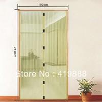Magnetic Anti Mosquito Bug 210cm L x 100cm W Beige Color Screen Door Magic Mesh Free Shipping