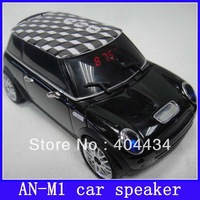 rechargeable mini car speaker an-m1 model speaker with FM radio support TF card U-disk 20pcs/lot free shipping