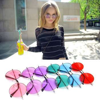 Free Shipping! Hot Fashion New Goggles Women Lady Nifty Summer Shade Round Style Glasses Multicoloured UV400 Sunglasses 120-0018