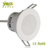Free shipping (2PCS/LOT) 3w led ceiling lamp  300lm 85-265v  round  led downlight