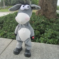 1pcs Electronic pet donkey, can dance sing shook his head electric donkey, rock donkey, children funny toy