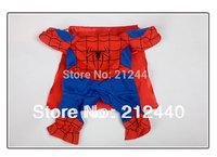 Free Shipping Superman Spiderman Batman pet small dog clothes clothing for dogs roupas para caes de cachorro costume coat 60