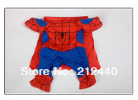 Free Shipping Superman Spiderman Batman pet small dog clothes clothing for dogs roupas para caes de cachorro costume coat 60