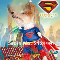Free Shipping 1 Piece  Superman Spiderman  Batman Cheap Dog Dress Clothes Puppy Clothes Apparel Spring Autumn #DC-008