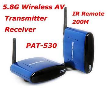 Hot sale PAT-530 5.8G Wireless AV TV Audio Video Sender Transmitter Receiver IR Remote for IPTV DVD STB DVR free shipping Brazil