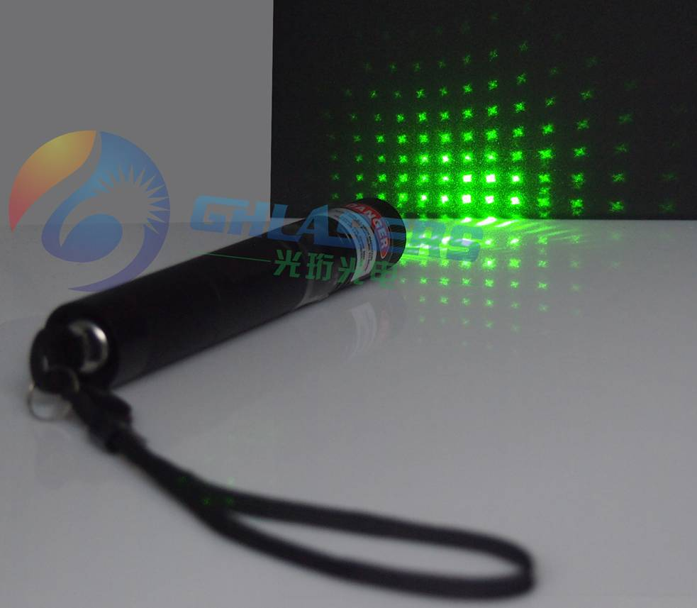 GT36-010, 10mW Green Laser Pointer, Rotatable Cap with Six Beam Shapes, Focus Adjustable, Key Switch, with IR Filter &amp; Box(China (Mainland))