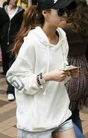2014 Fall Autumn Winter New fashion high quality plus size big size XL XXL XXXL 4XL  women white Sweatshirt Hoodie