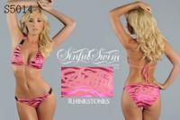 A+ Quality sexy bikinis with rhinestones women new fashion beachwear