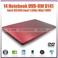 Freeshipping  hotsell new cheap 14.1 inch Laptop notebook computer  DVD-RW  4G RAM 640G HDD  D2500 Dual 1.86Ghz WIFI HDMI