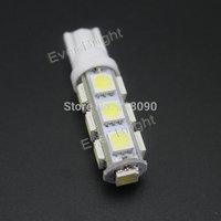 200 Pcs T10 5050 13 SMD 194 168 W5W 13 LED Super Bright Parking 12V DC Car Led Car Door Light Car Light Sourse Interior Lamps
