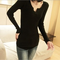 sweaters 2013 women fashion V-neck tunic sweaters earth music  pullover knitted sweater womens Wholesale + retail free shipping