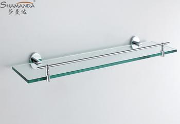Free Shipping Single bathroom Shelf/glass shelf,Brass Made Base+glass shelf,Bathroom Hardware,Bathroom Accessories-93016