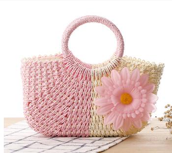 Free shipping!  straw bag fashion beach bag fresh small handbag woven bag rattan bag innumeracy