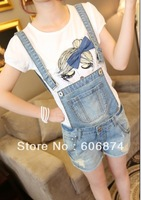 High quality 2013 summer fashion new style leisure ladies overalls, casual mid waist loose shorts for girls , free shipping