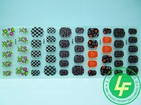 Free shipping 25 Sheet  3D Nail Art Sticker Black Flowers Decal Manicure French Style Mix Flower