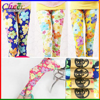 wholesale 5pcs/lot girl candy color flower legging children summer autumn skinny leggings 19 color to choose