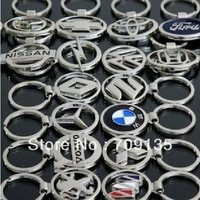Free shipping 30pcs/lot luxury 3D Car Logo keyrings, mixed styles key chain