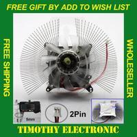 HOT SALE FREE SHIPPING Fit All PC 12V 2 pin Computer VGA Video Card Cooling Cooler Heatsink Heat Sink Fan 1PC #FS027