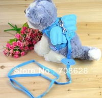 5PC Cute Angel Wings Adjustable Safety Pet Dog Harness Mesh&Leash Pet Products 3Colors Size S M L Free Shipping