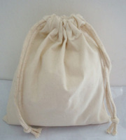 W8xH14c Wholesale custom eco plain cotton drawstring bag natural muslin jewelry gift pouch with logo free shipping