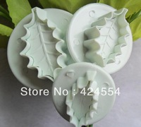 Free shipping  3long leaves cake cookies machine plunger paste sugar craft decorating tools----a071