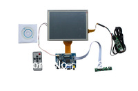 HDMI+VGA +AV of LCD driver board+ Remote control and receiver +OSD keypad with cable+ 800*600 8 inch LCD panel  with touch panel
