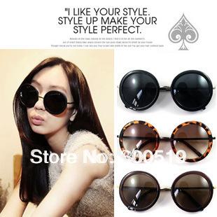 JJ211 Classic Vintage Big Round Frame Lens Style Woman Sunglasses Fashion Glasses