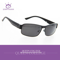 Queen College with cases Al-Mg Alloy ultra-light sport sunglasses men brand sun glasses vintage Eyewear QC0111
