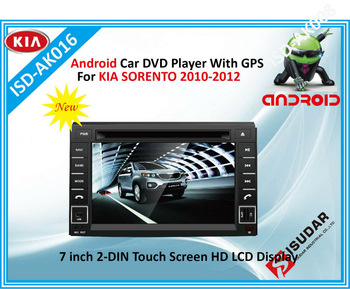 1.2GHZ Two Din 7 Inch Android Car DVD Player For KIA SORENTO 2010 - 2011 With 3G Function Rear View Camera GPS WiFi TV Free Map