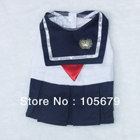 1 pc/lot A1004 Spring and summer Discounted Hot pet clothing dog clothes cute Japanese uniforms school uniform sailor suit