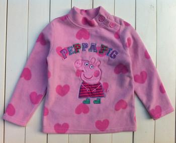 Free shipping ! children girl clothing peppa pig fleece long sleeved Sweater tops outwear