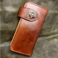 Retro fiscal cloth hand-wallet cow pickup package brush-do the old vegetable tanned leather wallet limited edition